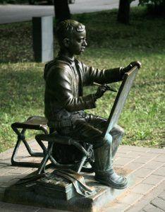 Памятник юному художнику